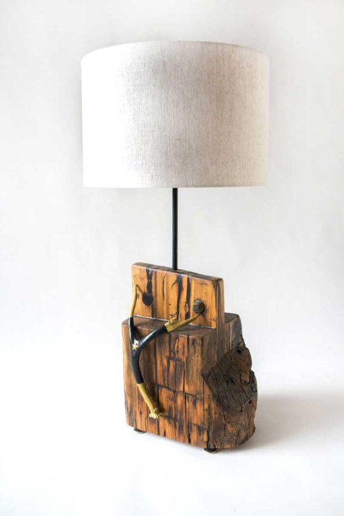 Antler Lamp - Gold