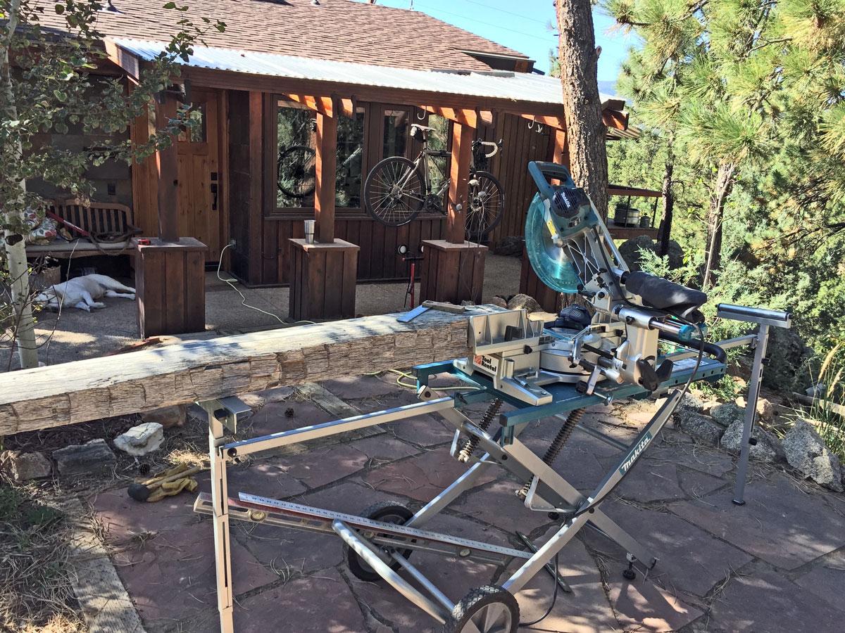 Back Deck sliding miter saw - north side